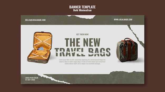 Szablon transparentu torby podróżnej