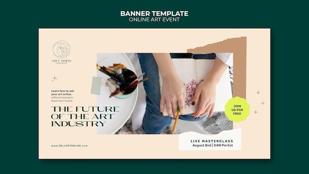 Szablon transparentu wydarzenia artystycznego online