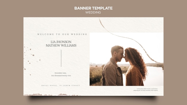 Szablon transparentu wydarzenia ślubnego