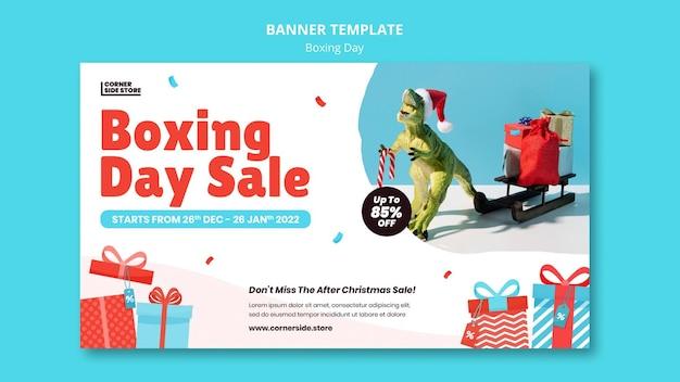 Szablon transparentu wyprzedaży na dzień świąteczny