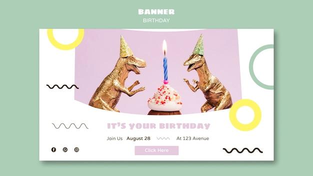 Szablon transparentu z okazji urodzin