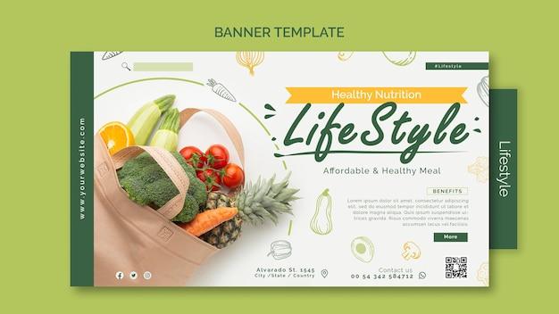 Szablon transparentu zdrowego stylu życia