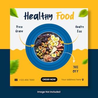 Szablon transparentu zdrowej żywności na instagramie