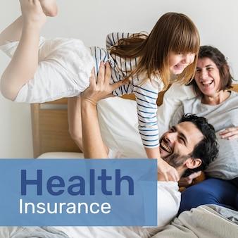Szablon ubezpieczenia zdrowotnego psd dla mediów społecznościowych z edytowalnym tekstem