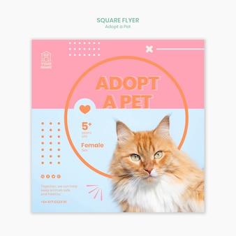 Szablon ulotki adoptować zwierzaka