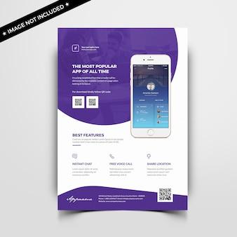 Szablon ulotki aplikacji mobilnej