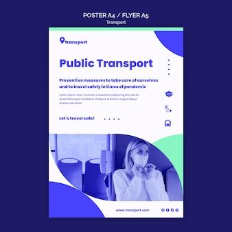 Szablon ulotki bezpiecznego transportu publicznego