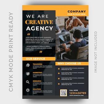 Szablon ulotki biznesowej nowoczesnej agencji kreatywnej