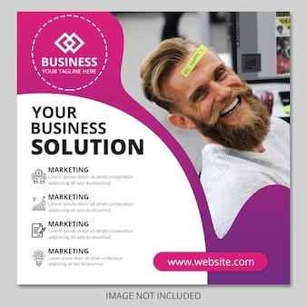 Szablon ulotki biznesowej