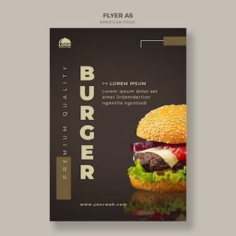 Szablon ulotki burger