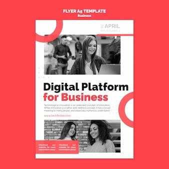 Szablon ulotki cyfrowej platformy biznesowej