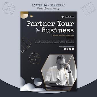 Szablon ulotki dla firmy partnerskiej