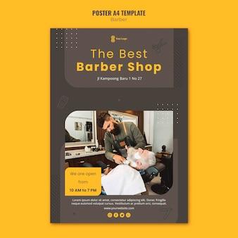 Szablon ulotki dla fryzjera
