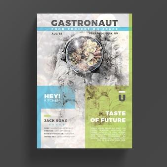 Szablon ulotki dla kreatywnego gastronomii