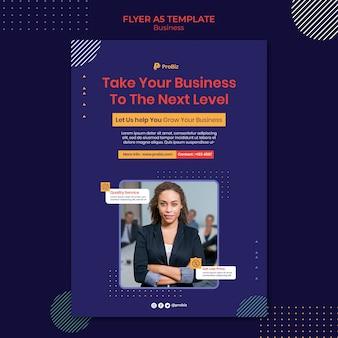 Szablon ulotki dla profesjonalnych rozwiązań biznesowych