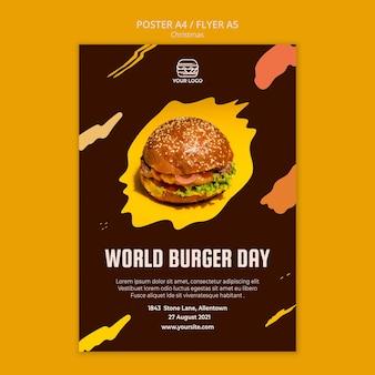 Szablon ulotki dla restauracji z burgerami