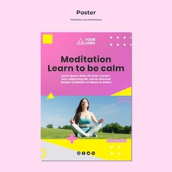 Szablon ulotki do medytacji i uważności