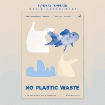 Szablon ulotki dotyczącej gospodarki odpadami
