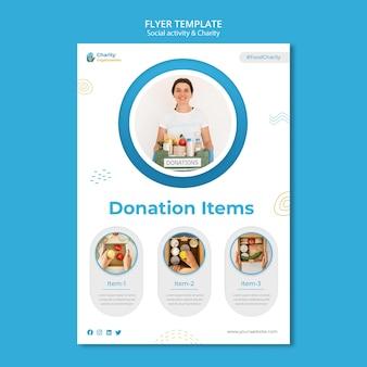Szablon ulotki działań charytatywnych