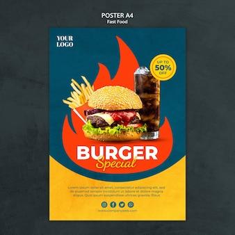 Szablon ulotki fast food