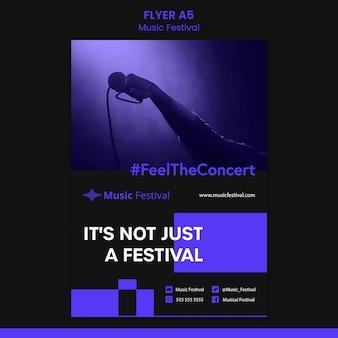 Szablon ulotki festiwalu muzyki