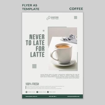Szablon ulotki filiżanki kawy