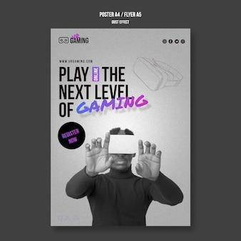 Szablon ulotki gier w wirtualnej rzeczywistości