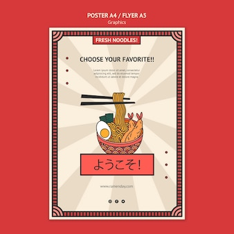 Szablon ulotki grafiki żywności