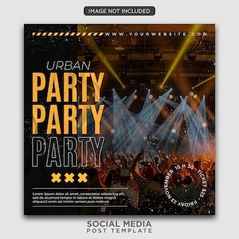 Szablon ulotki imprezowej lub post w mediach społecznościowych