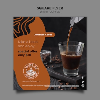 Szablon ulotki kawy
