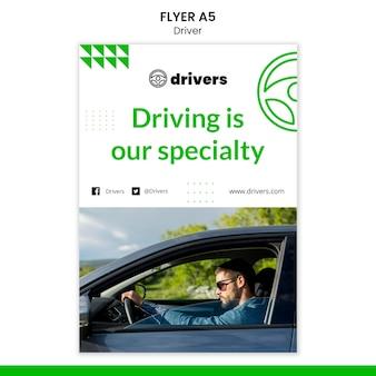 Szablon ulotki kierowcy