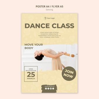 Szablon ulotki klasy tańca