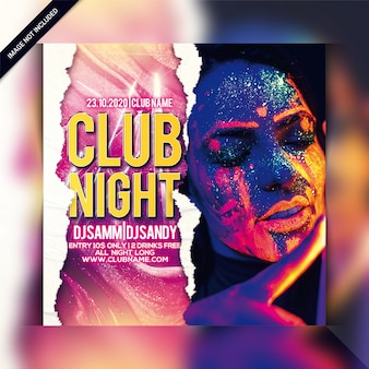 Szablon ulotki klubu nocnego