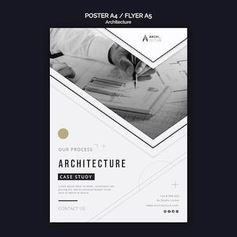 Szablon ulotki koncepcja architektury
