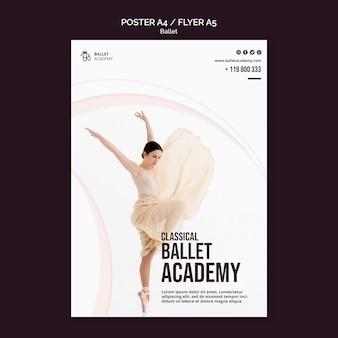 Szablon ulotki koncepcja baletu