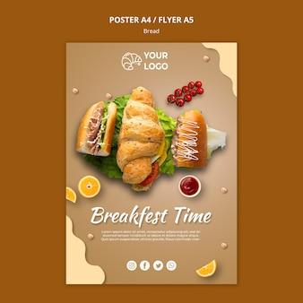 Szablon ulotki koncepcja chleba