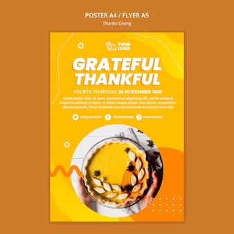 Szablon ulotki koncepcja dziękczynienia