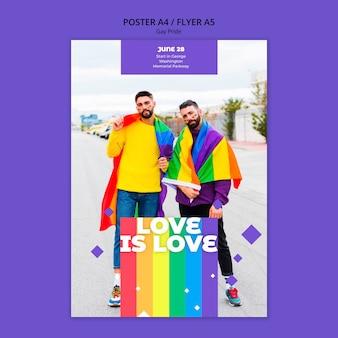 Szablon ulotki koncepcja gejów prinde