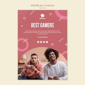 Szablon ulotki koncepcja gier