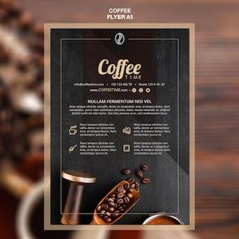 Szablon ulotki koncepcja kawy