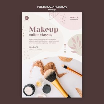 Szablon ulotki koncepcja makijażu