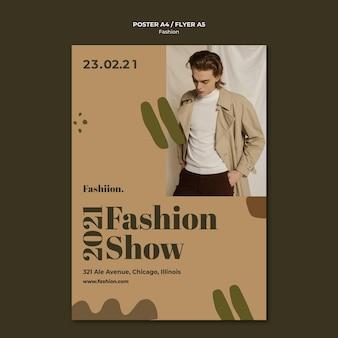 Szablon ulotki koncepcja mody
