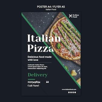 Szablon ulotki koncepcja włoskie jedzenie