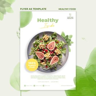 Szablon ulotki koncepcja zdrowej żywności