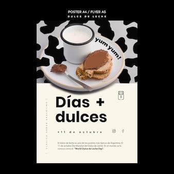 Szablon ulotki koncepcyjnej dulce de leche