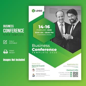 Szablon ulotki konferencji biznesowych