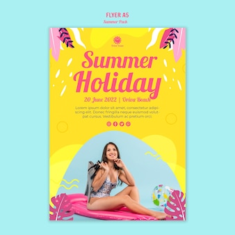 Szablon ulotki letnie wakacje