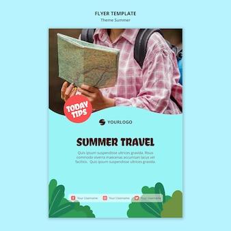 Szablon ulotki letniej podróży