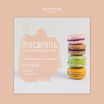 Szablon ulotki macarons