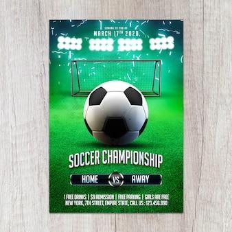 Szablon ulotki mistrzostwa w piłce nożnej